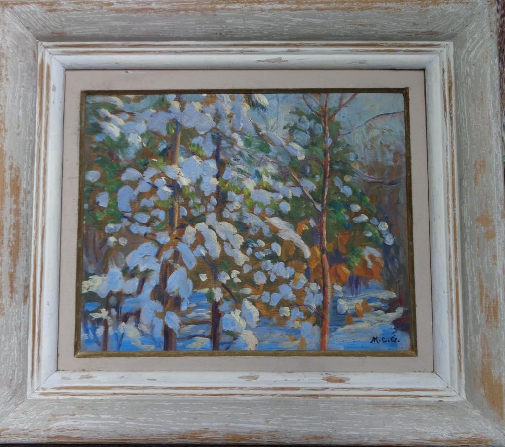 One of Ken's frames, note combing texture in upper corner